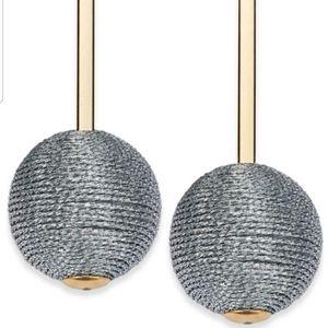 I.N.C Gold Tone Wrapped Ball Drop Earrings